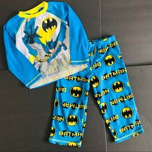 Batman 4T Toddler DC Comics Fleece Pajamas Set